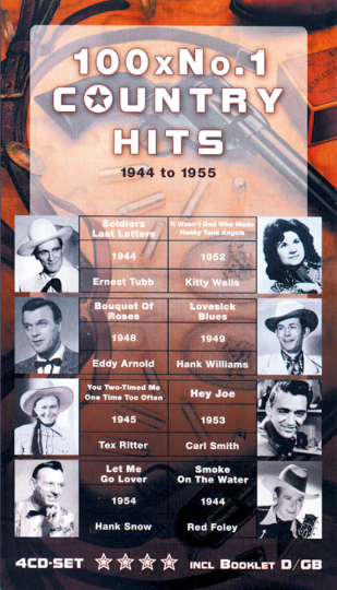 100 No. 1 Country Hits 1944-1955, 4 CDs
