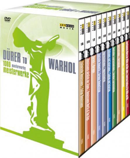 1000 Meisterwerke. Dürer bis Warhol. 10 DVDs.