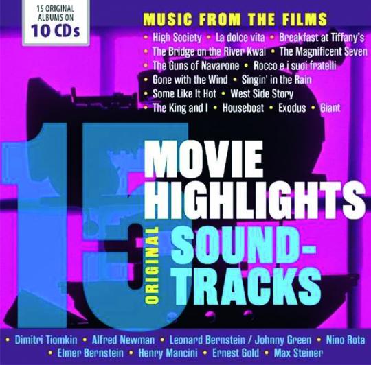 15 Movie Highlights. Original Soundtracks. 10 CDs.