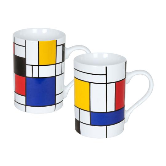 2 Becher »Piet Mondrian«.