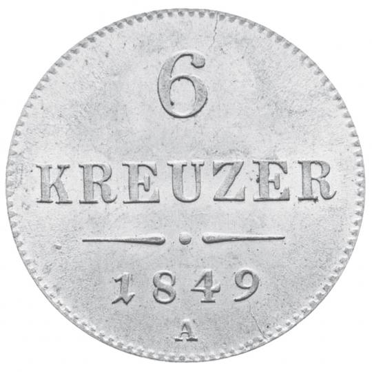 2 Silbermünzen - 6 + 10 Kreuzer