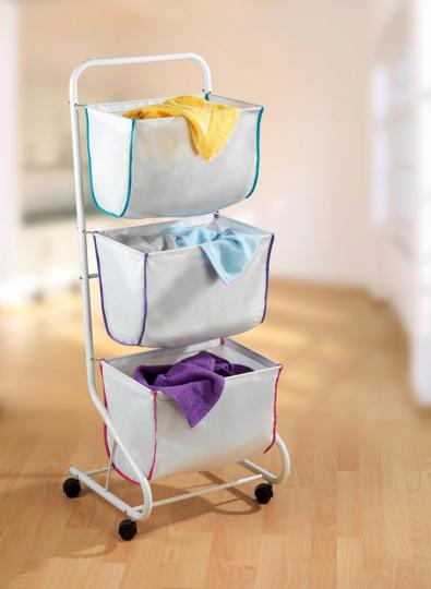 Wäschesammler mit 3 Etagen.