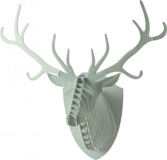 3D Tierkopf-Wandbild. Hirsch.