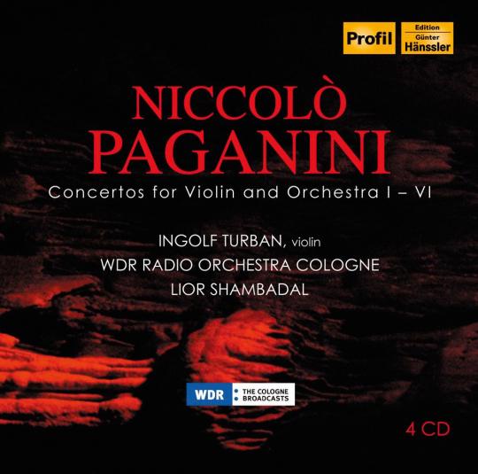 Niccolò Paganini: Sämtliche Violinkonzerte. 4 CDs