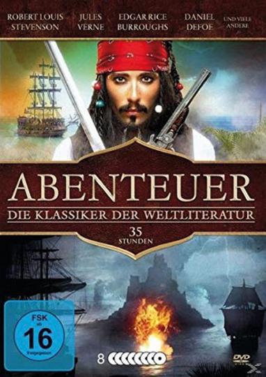Abenteuerfilme. Die Klassiker der Weltliteratur. 8 DVDs.