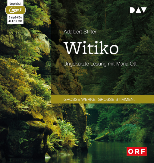 Adalbert Stifter. Witiko. 3 MP3-CDs.