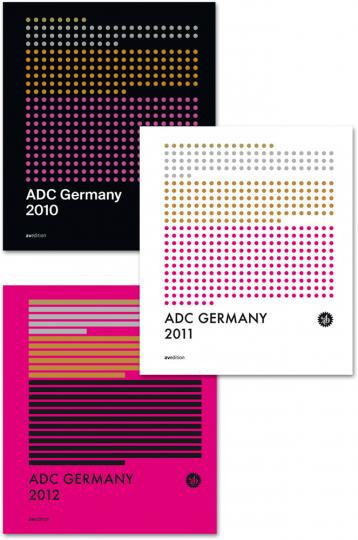 ADC Jahrbücher 2010-2012. 3 Bände im Set.
