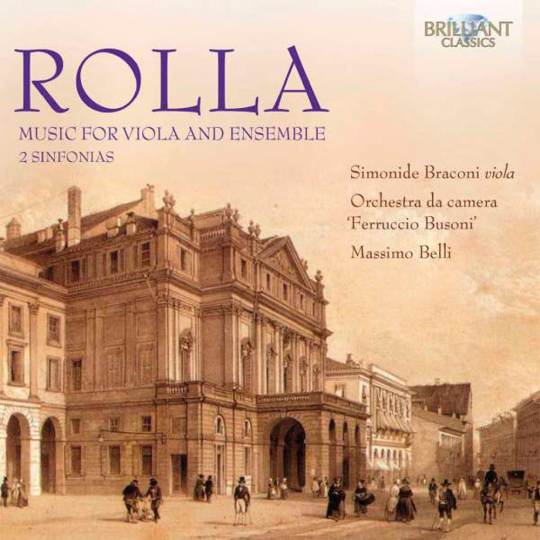 Alessandro Rolla. Music For Viola And Ensemble. CD.