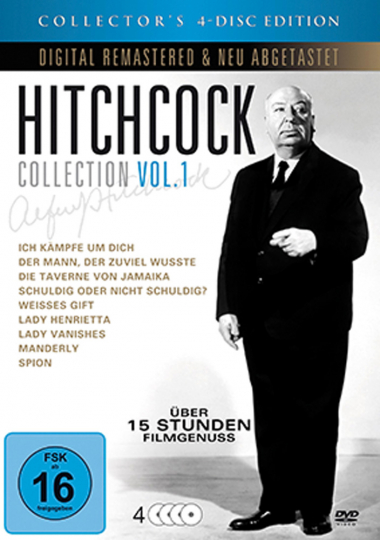 Alfred Hitchcock Collection 1. 4 DVDs.