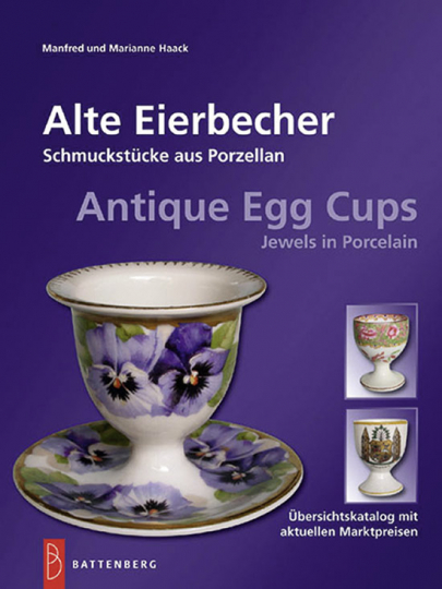 Alte Eierbecher. Schmuckstücke aus Porzellan.