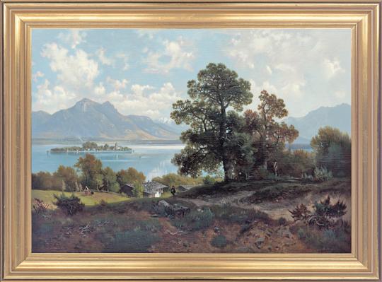 Am Chiemsee. Ludwig Sckell (1833-1912).