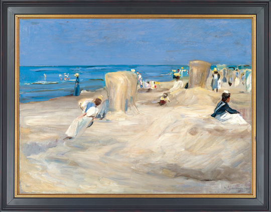 Am Strand von Nordwijk. Max Liebermann (1847-1935).