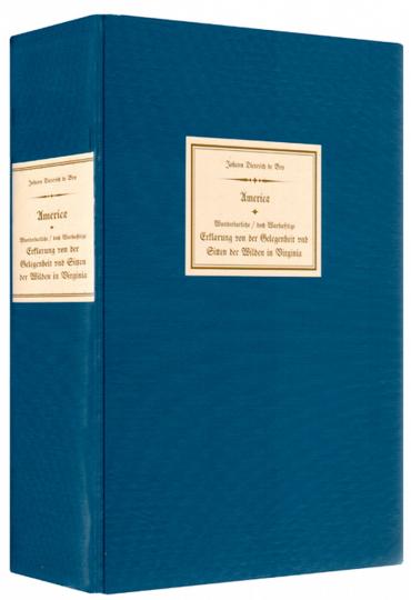 America - Wunderbarliche / doch Wahrhafftige Erklaerung von der Gelegenheit und Sitten der Wilden in Virginia - Reprint der Ausgabe aus dem Jahr 1600