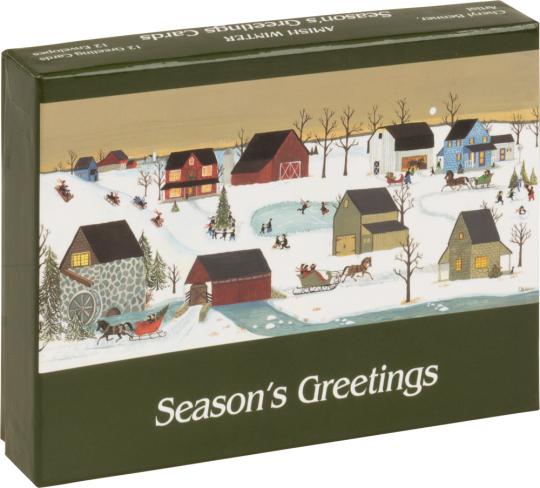 »Amish Winter«. 12 Grußkarten mit Umschlägen.