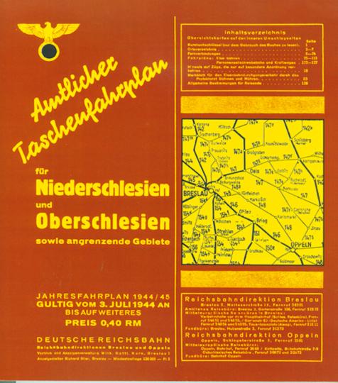 Amtlicher Taschenfahrplan für Nieder- und Oberschlesien