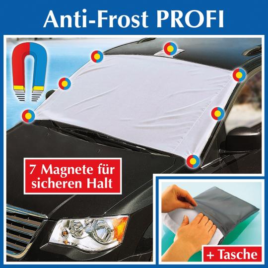 Anti-Frost-Decke für die Windschutzscheibe.