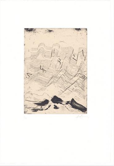 Antoni Tápies. »Hommage à Max Ernst« Grafik.