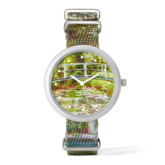 Armbanduhr »Seerosenteich« nach Claude Monet.