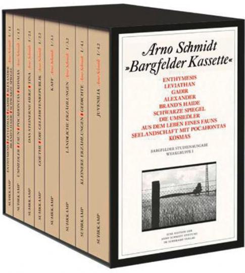 Arno Schmidt. Bargfelder Kassette. Studienausgabe der Werkgruppe I: Romane, Erzählungen, Gedichte, Juvenilia.