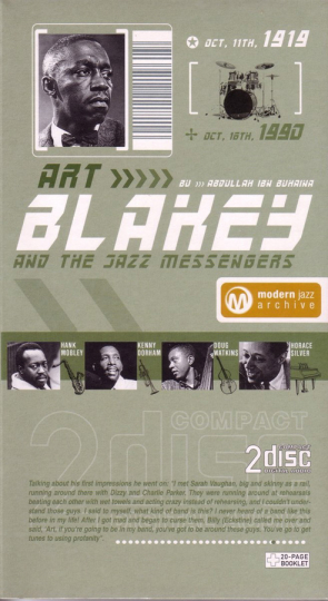 Art Blakey. Now's The Time / Moanin'. Classic Jazz Archive. 2 CDs.