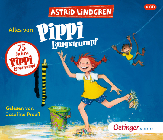 Astrid Lindgren. Alles von Pippi Langstrumpf. 6 CDs.