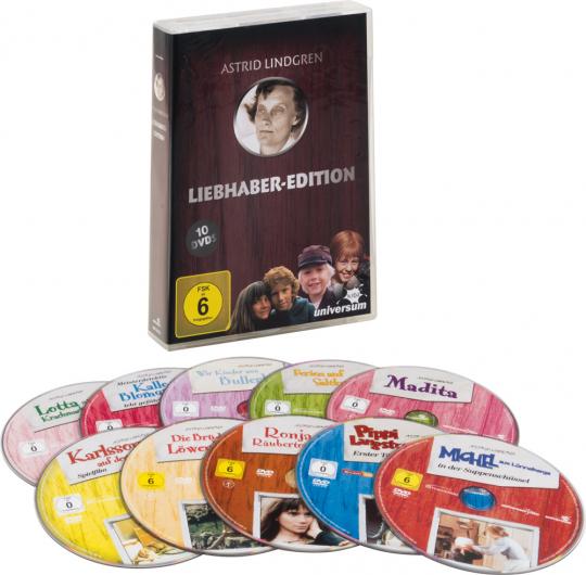Astrid Lindgren. Liebhaber Edition. 10 DVDs.