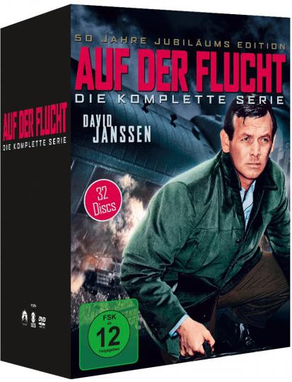 Auf der Flucht. Komplette Serie. 32 DVD-Box.