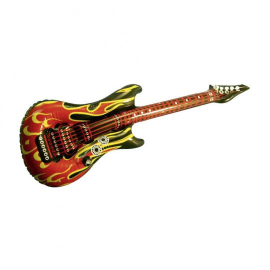 Aufblasbare Rockgitarre »Flames of Hell«.
