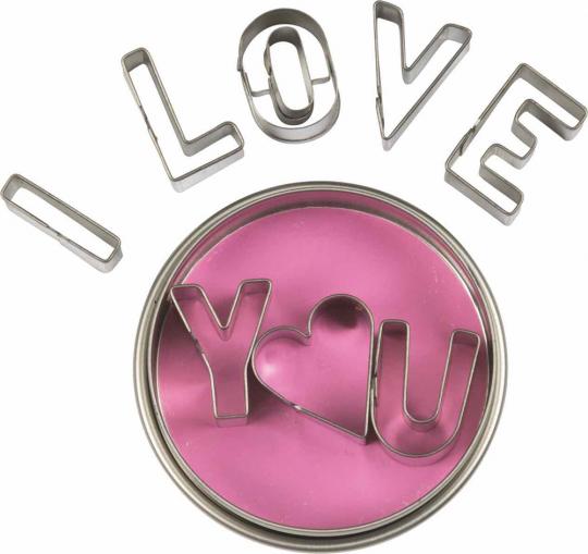 Ausstechformen »I love you«.