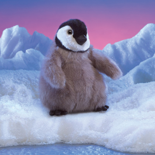 Baby-Pinguin Handpuppe.