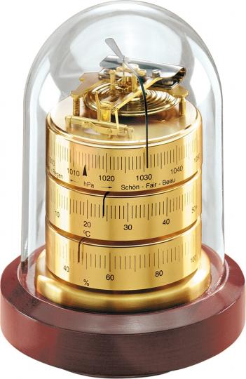 Barigo Baro-Thermo-Hygrometer unter Glas.