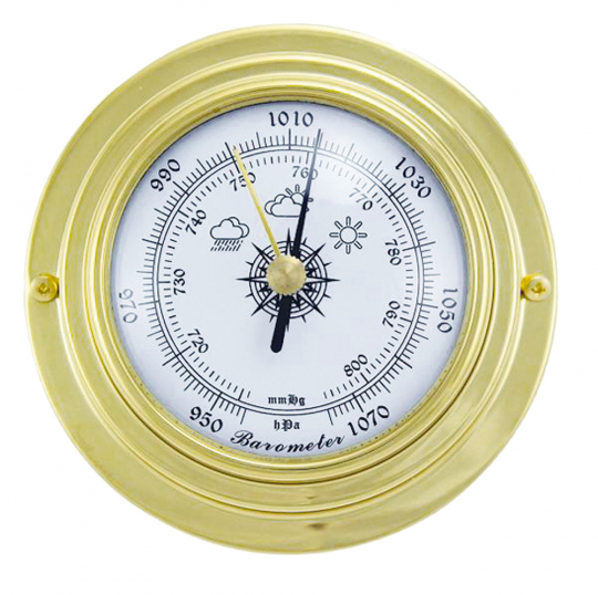 Barometer aus Messing.