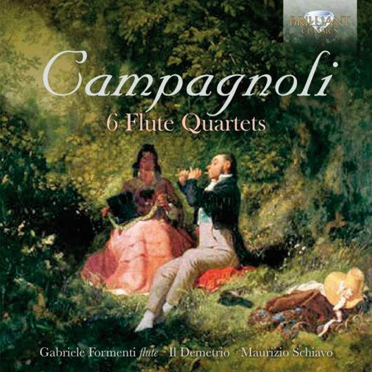 Bartolomeo Campagnoli. Flötenquartette Nr. 1-6. CD.