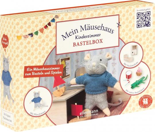 Bastelbox. Mein Mäusehaus-Kinderzimmer. Ein Mäusehauszimmer zum Basteln und Spielen.