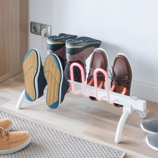 Beheizbarer Schuhständer.