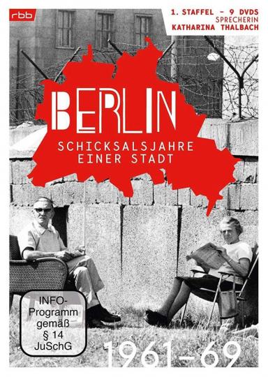 Berlin. Schicksalsjahre einer Stadt. Staffel 1. 1961-1969. 9 DVDs.