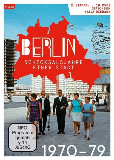 Berlin. Schicksalsjahre einer Stadt. Staffel 2. 1970-1979. 10 DVDs.