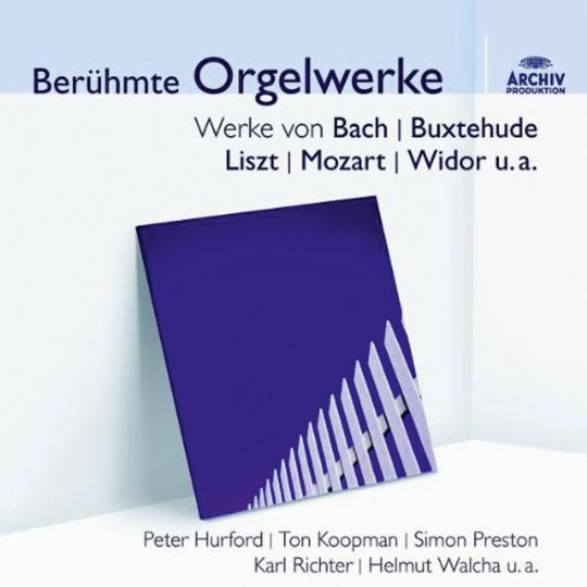 Berühmte Orgelwerke auf historischen Orgeln. CD.