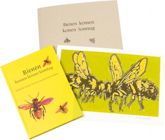 »Bienen kennen keinen Sonntag«. Beflügelnd-heitere Verse aus dem Reich der Insekten. Vorzugsausgabe mit signierter Grafik.