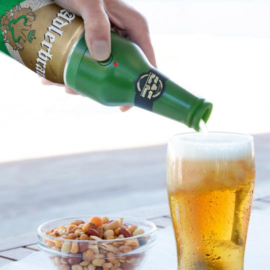 Bieraufschäumer für Dosenbier.