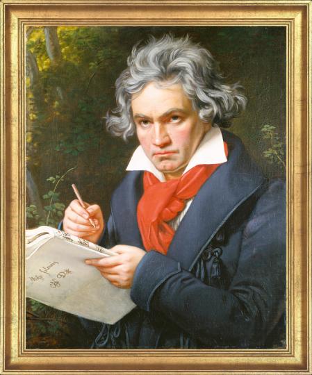 Bildnis Ludwig van Beethoven beim Komponieren der Missa Solemnis. Joseph Karl Stieler (1781-1858).