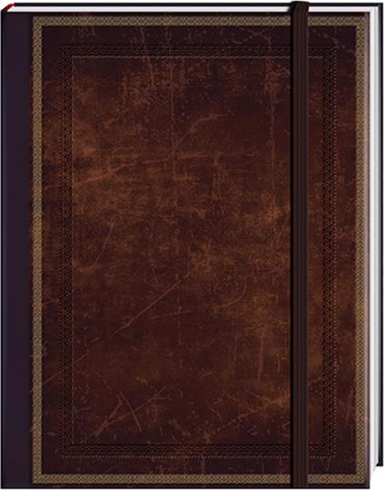 Notizbuch »Blank Book«, braun, klein, liniert.