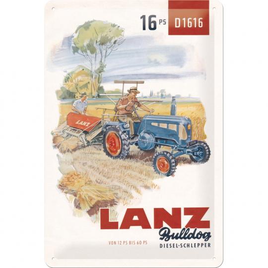 Blechschild 20*30 , Lanz Bulldog 16 PS