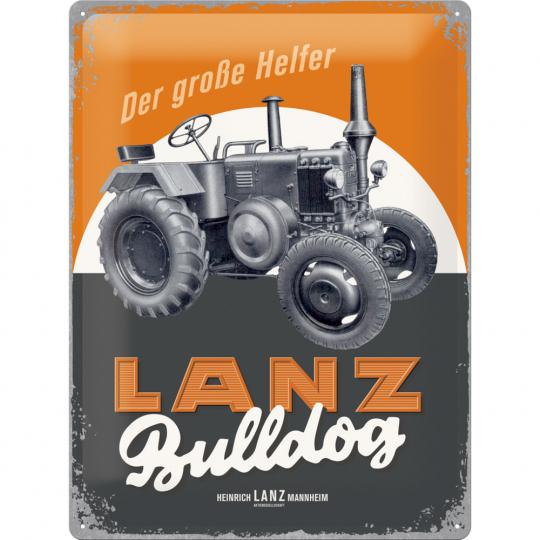 "Blechschild 30*40 , Lanz Bulldog ""Der große Helfer"""