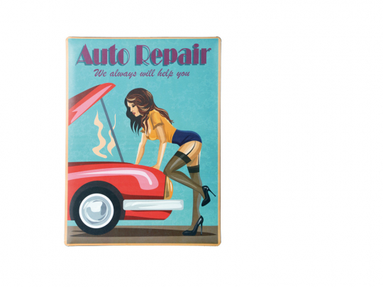 Blechschild »Auto Repair«.