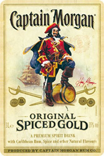 Blechschild Captain Morgan.