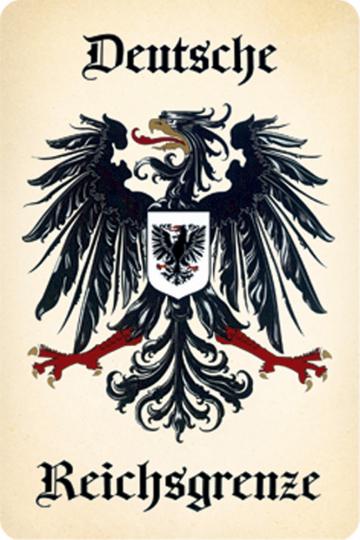 Blechschild Deutsche Reichsgrenze