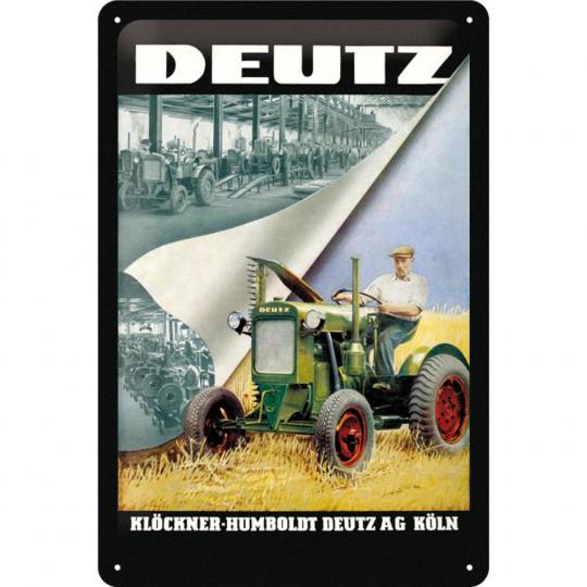 Blechschild Deutz Klöckner.