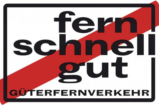 """Blechschild """"Güterfernverkehr"""""""