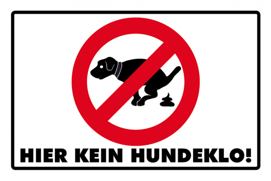 Hier kein Hundeklo!